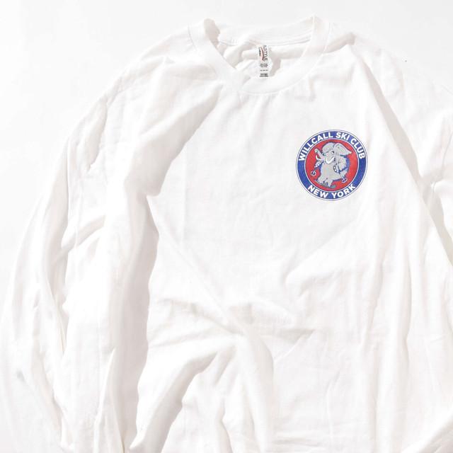 【2XLサイズ】WILLCALL SKI CLUB ウィルキャルスキークラブ WHT ホワイト 2XL 400601191106