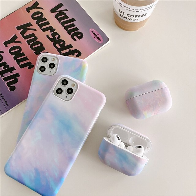 【セット販売】Water color marble iphone case & airpods 1/2 Pro case
