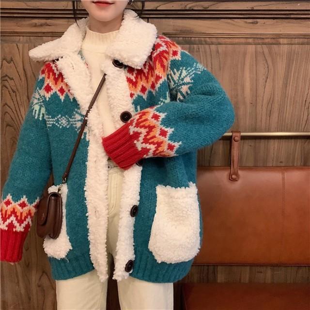 【outer】可愛いデザイン韓国風ファッション大活躍コート
