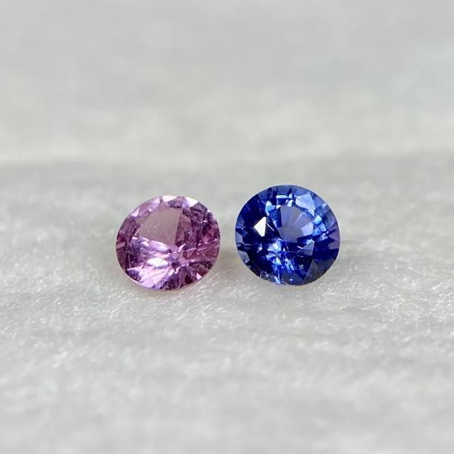 丸いサファイア 2色 約3.0*1.7-2.0mm r-0281
