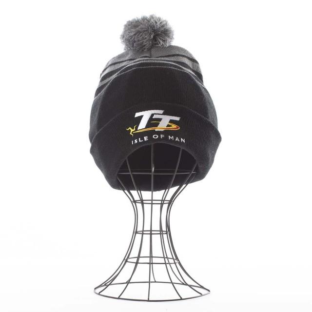 Islr of Man TT Bobble Hat Black/Grey