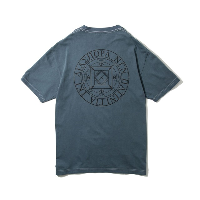 DIASPORA SKATEBOARDS Dyed Magic Circle Tee Black Berry