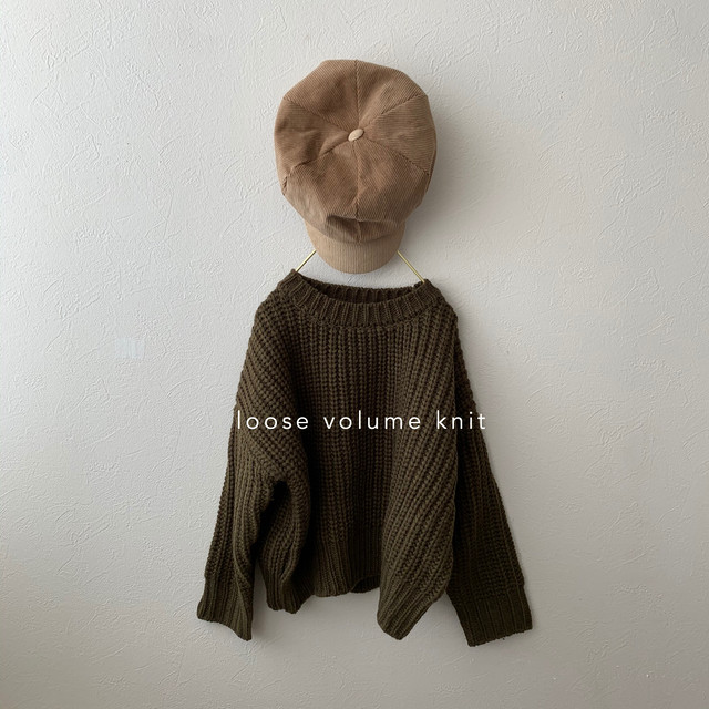 631. loose volume knit / khaki