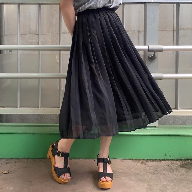 "70~80's ""Fauir Lady"" Euro vintage pleats skirt"