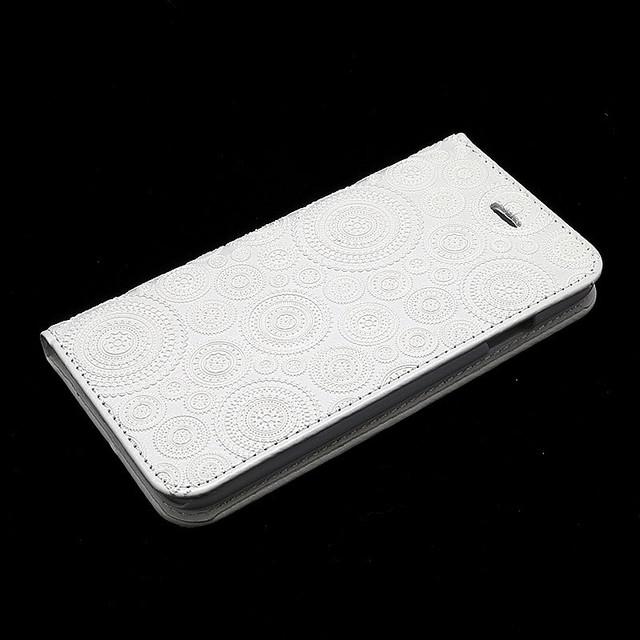 iPhoneケース 手帳型ケース ソリッドデザイン(ホワイトレース)