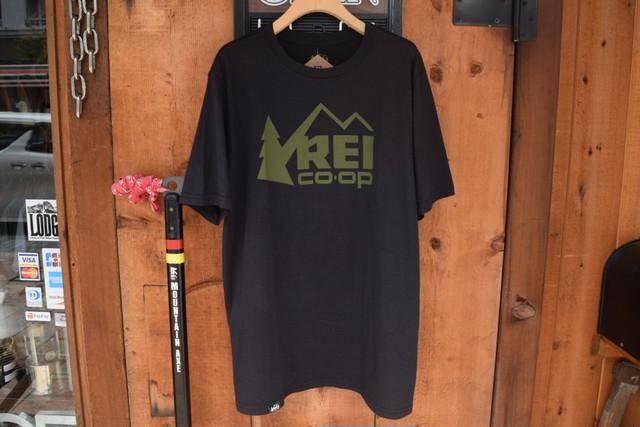 新品 USA製 REI ロゴTシャツ M サイズ  黒