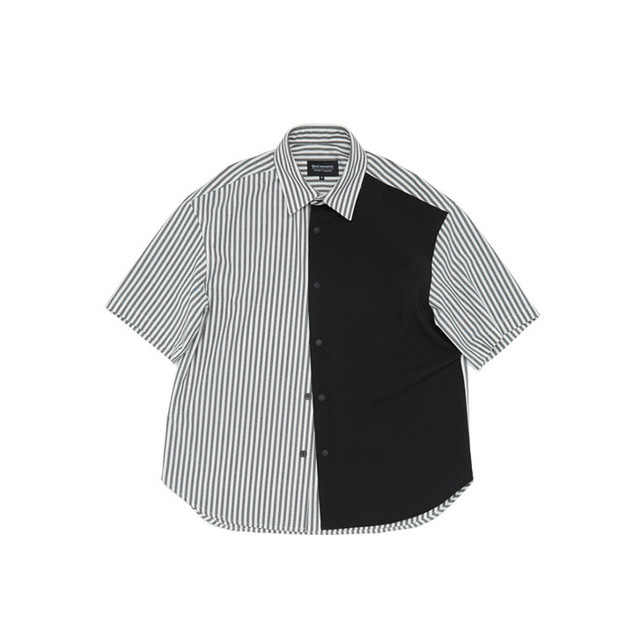 Grid Relaxed Roundcut Half Shirt 半袖 シャツ