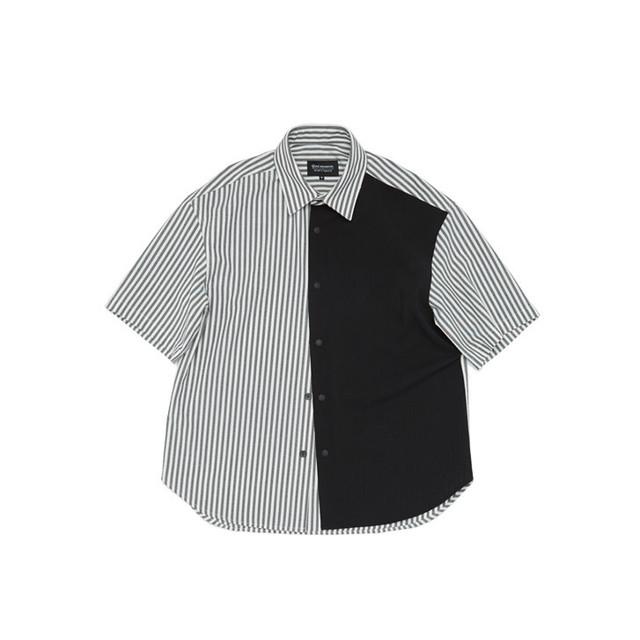 Grid Relaxed Roundcut Half Shirt 半袖 シャツ