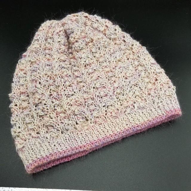 縄編み帽子 B1