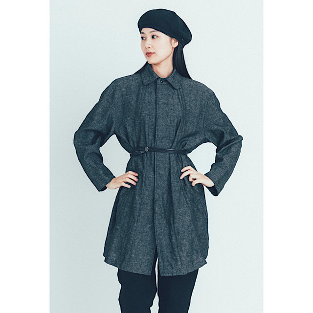 """BRESSON""LINEN LADIES COAT"