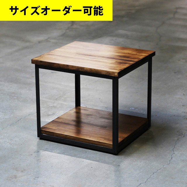 IRON BAR SIDE TABLE[BROWN COLOR]サイズオーダー可