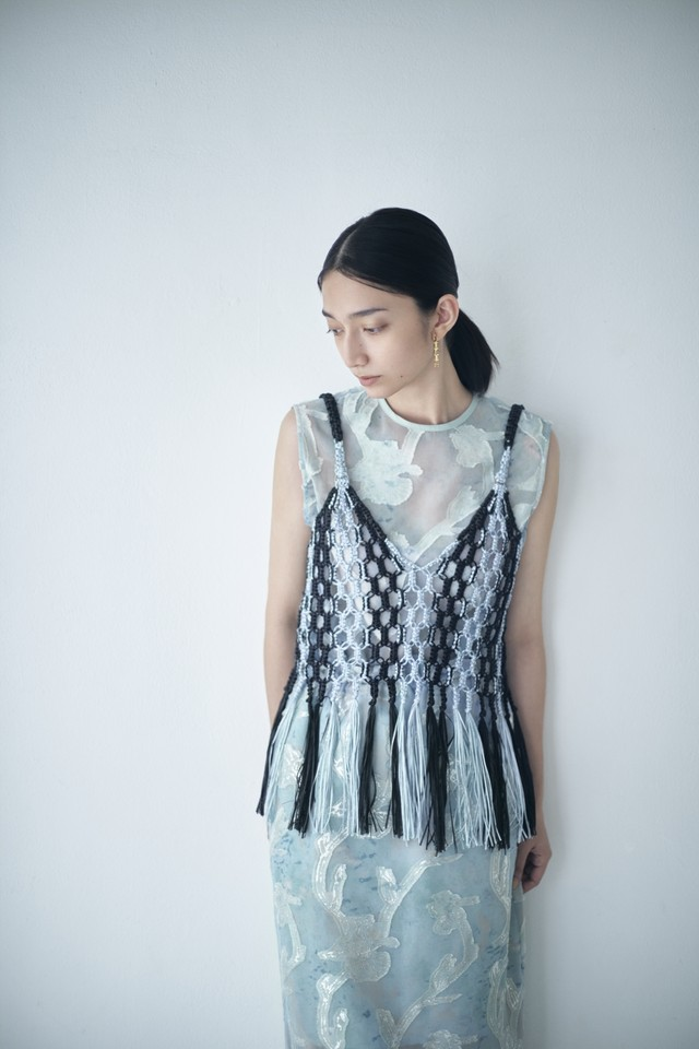 T-03 Macrame Hand Knit Camisole