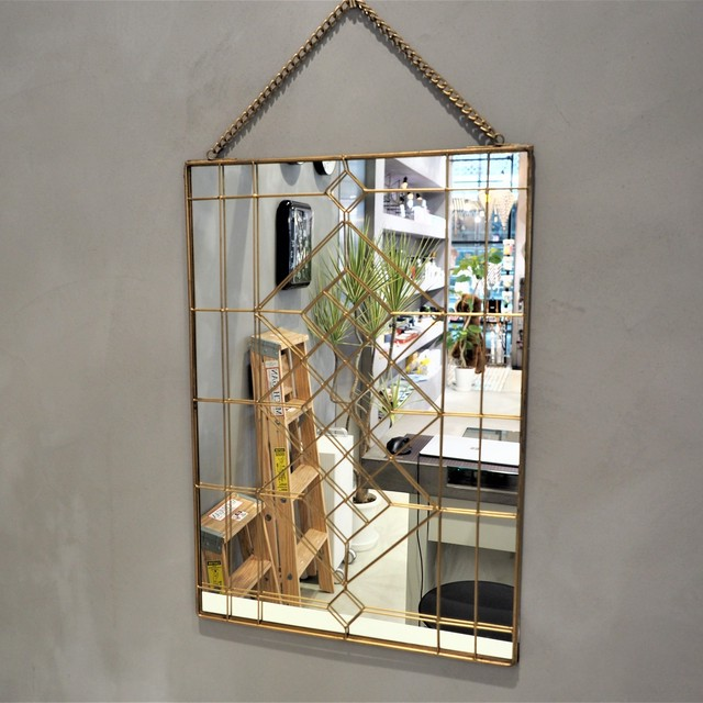 Geometry Wall Hanging Mirror  L 02パターン