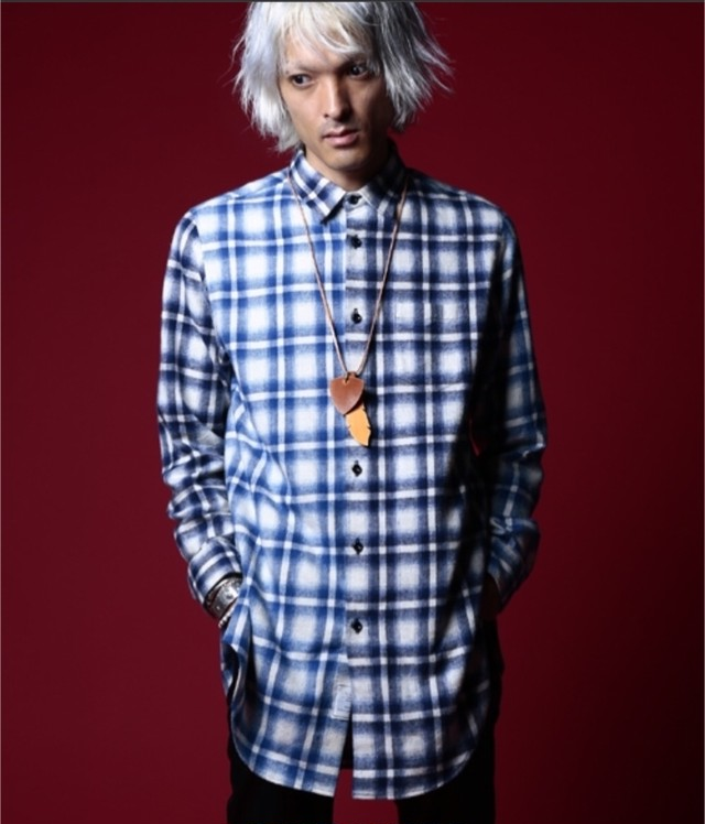 EFFECTEN(エフェクテン)crazy patten zip long shirts