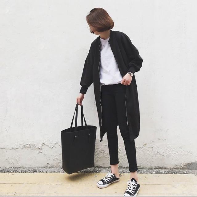 【即納】ジッパー コート ジャケット