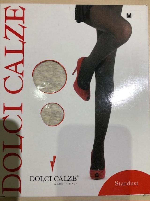 DolciCalze (ドルチカルゼ)イタリア製 05-2492 ラメ入りタイツ IVORY