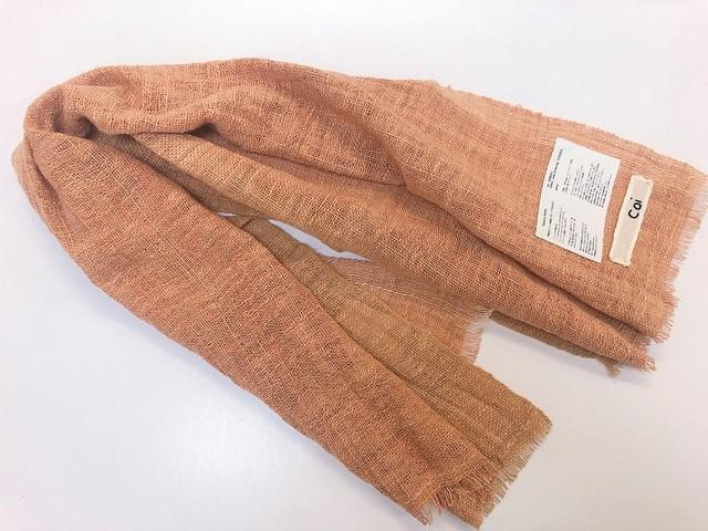 【Coi】草木染 長方形ショール 黄