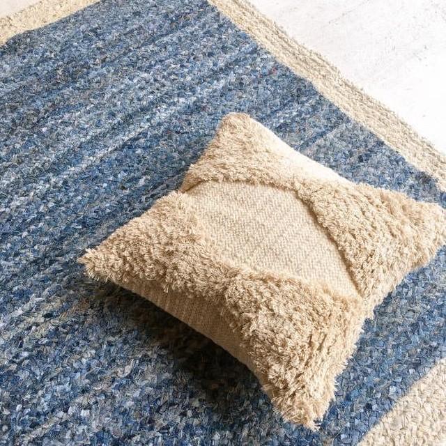 TOPANGA Homefurnishing 手織りのクッションカバー ダイヤ 45×45cm