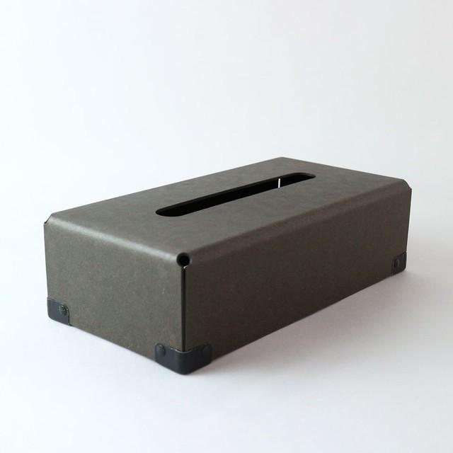 concrete craft (コンクリートクラフト)BENT Tissue box チャコールW12,5 × D25 × H7cm パスコ ティッシュボックス 収納 Craft One