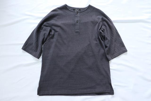 LOLO 【ロロ】ドルマンスリーブ 5分袖 Tシャツ チャコール