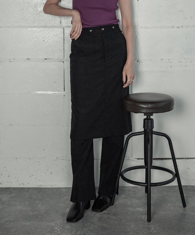 LAYERED SKIRT PANTS 2P