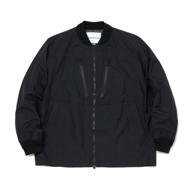 SAITOS PYTHON PRINTED RAGLAN JACKET - BLACK