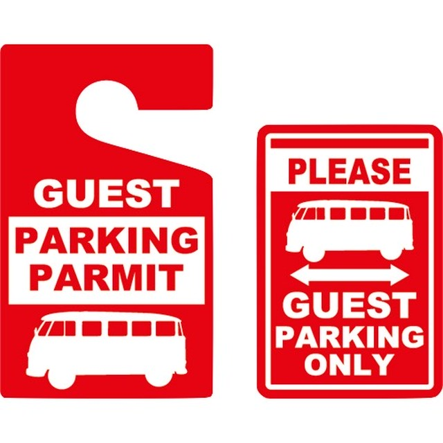 Parking Permit Tag & Sticker - VW BUS [VWPPT201]