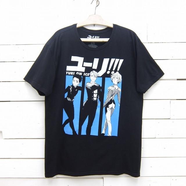 ユーリ!!! on ICE Crunchyroll キャラクター プリントTシャツ メンズ XLサイズ