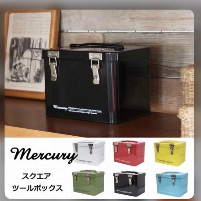 人気のアメリカンデザイン「マーキュリー」  マーキュリー NEW スクエアツールボックス カーキ マーキュリー MERCURY アメリカン アメリカ ビンテージ