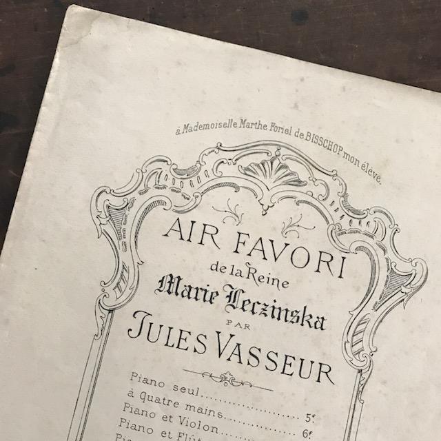表紙デザインが素敵!古い楽譜 19世紀(フランス)