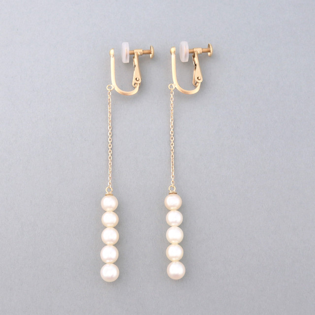 Row quins pearl long earring