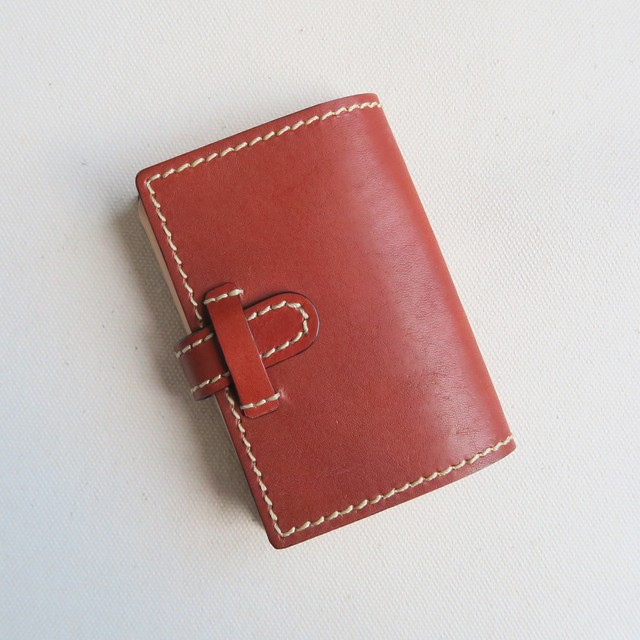 Pocket book card case BROWN