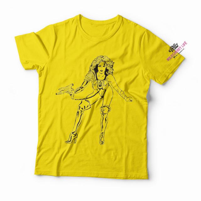 """【予約注文商品】山口明 Tシャツ「DOUTee /""""WILD CHERRY LIFE 表1側そで""""」(yellow)"""