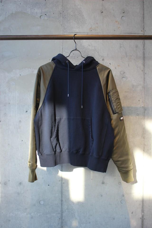 MA-1 hoodie / NAVY - メイン画像