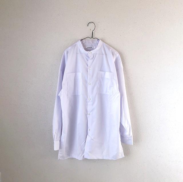 【男女兼用】バンドカラー ルーズシャツ_スノウホワイト /AF15