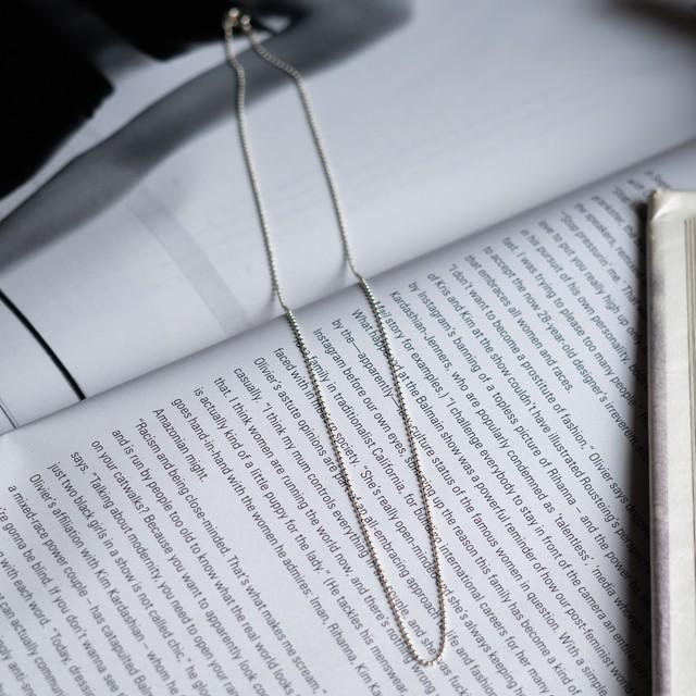 silver925chain cloth necklace