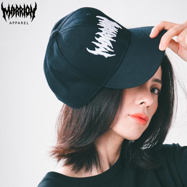 【キッズ・レディース】MARRIONAPPAREL LOGO CAP(Black×White)