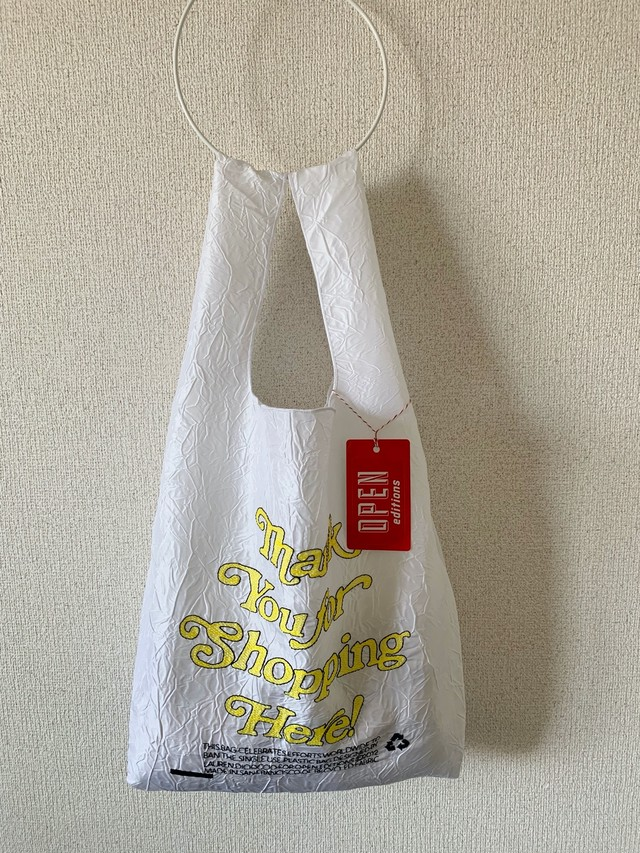 【OPEN EDITIONS / 送料無料】THANK YOU TOTE エコバッグ/ THANK YOU FOR SHOPPING HERE White