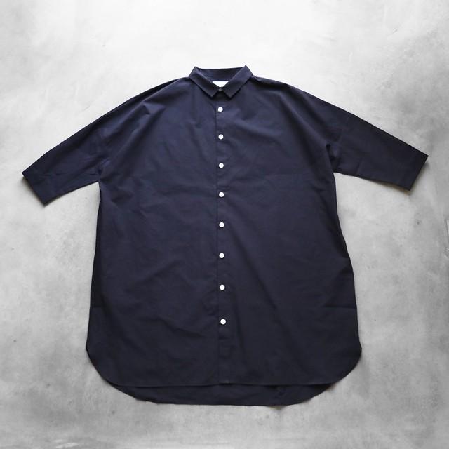 HUIS / 七分袖ロングシャツ