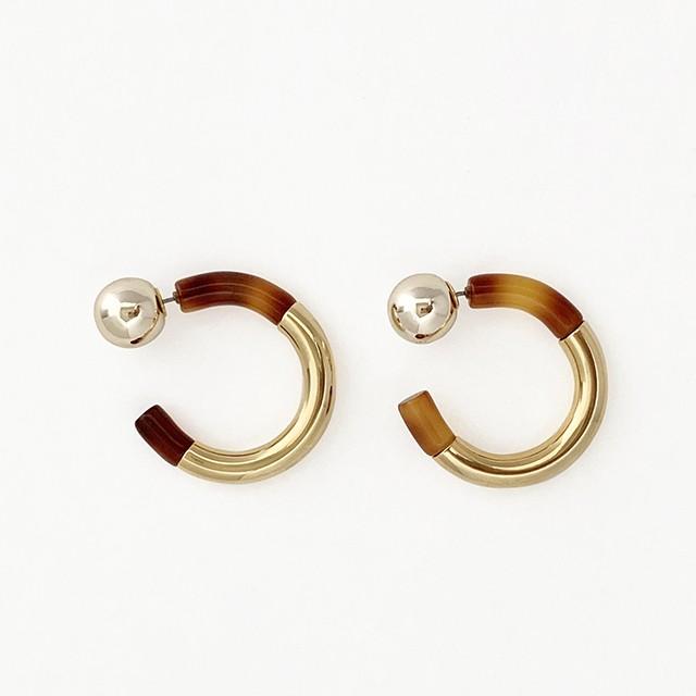 Bicolor Hoop Pierce or Earrings