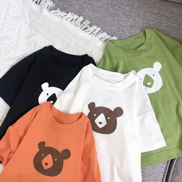 ≪特別セール中!≫送料無料♡韓国子供服 くま Tシャツ 4色 夏 半袖 サイズ80~130