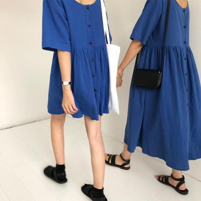 双子コーデ オルチャンファッション ワンピース 2タイプ RPSK062002