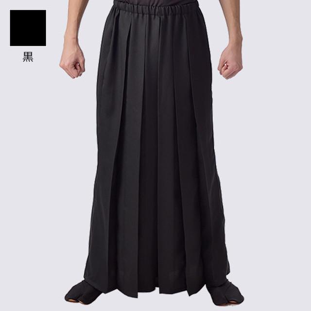 袴風パンツ 黒 ポリエステル【日本製】よさこい衣装 太鼓衣装 飲食店ユニフォーム
