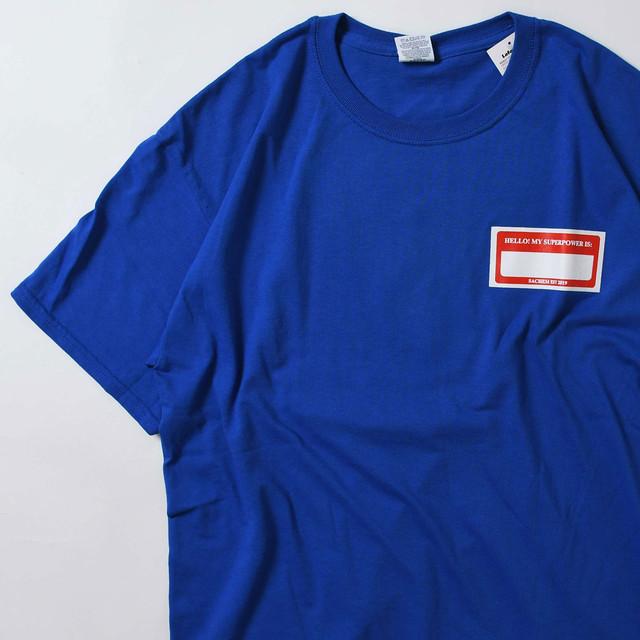 【Lサイズ】 HERO PRINT TEE 半袖Tシャツ BLUE L 400601191087
