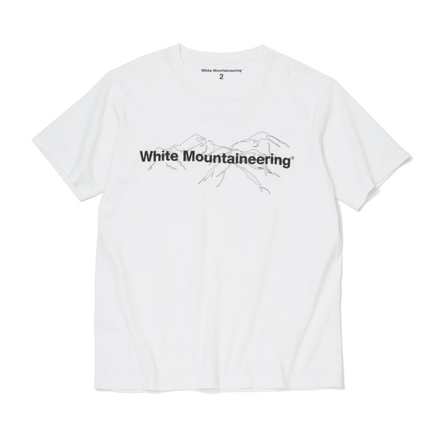 PRINTED T-SHIRT 'White Mountaineering' - WHITE