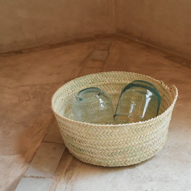 "SØMME / PALM LEAF BASKET ""Size M"""