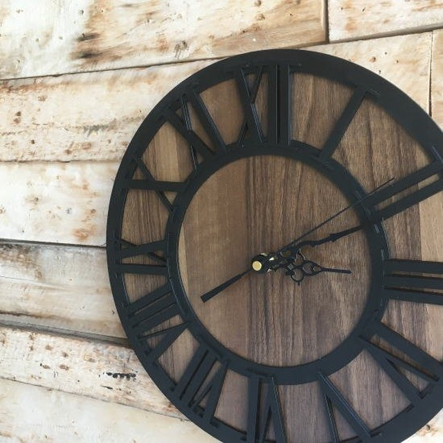 TOPANGA Wall Clock Retro Black