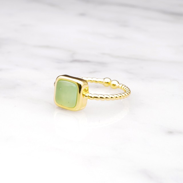 SINGLE MINI STONE RING GOLD 084