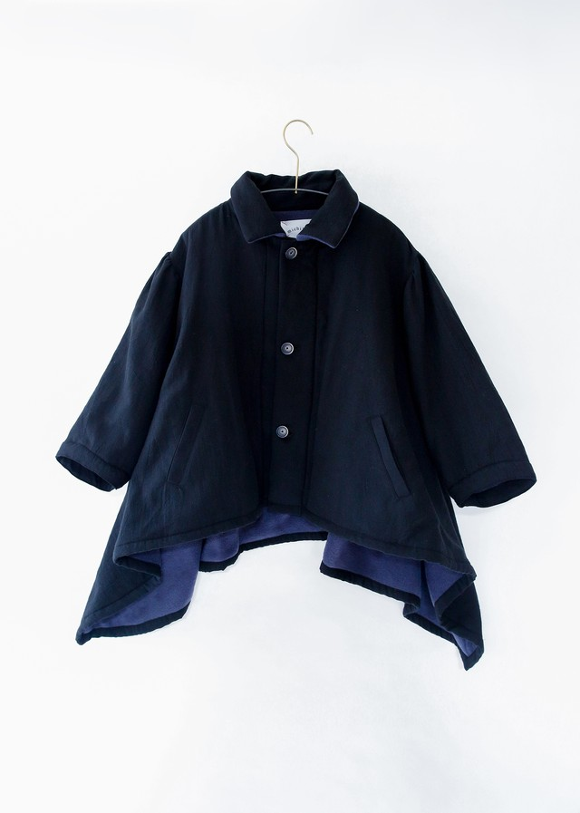 【20aw】ミチリコ(michirico) back freece coat ブラック【L・XL】コート