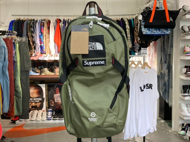Supreme 21SS × THE NORTH FACE OTS ROUTE ROCKET BACKPACK OLIVE NM82126I 145KF6398